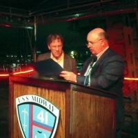 Image of David Jefferson and David Dill at EVN awards, San Diego 2014