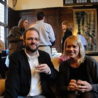 Image of CVF board member Joe Hall with Susan Greenhalgh at EVN in DC, 2010
