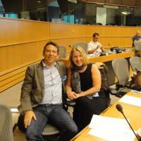 Image of Kim Alexander at the EU, 2011
